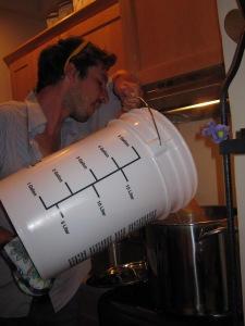 Pouring Beer Back in